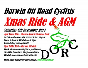 DARWIN OFF ROAD CYCLISTS Xmas Ride AGM 2014-page-001