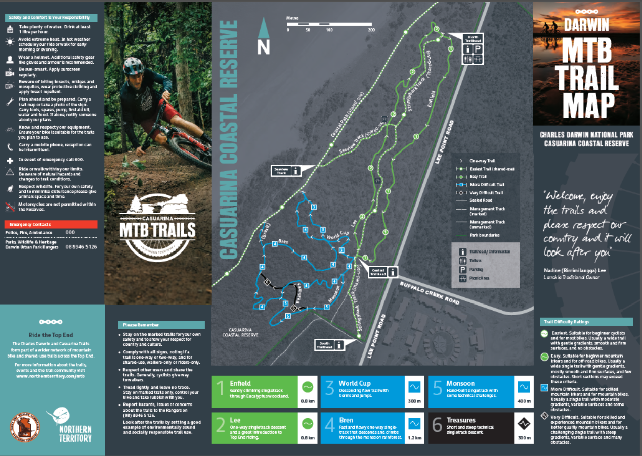Trail Map Casuarina Coastal Reserve
